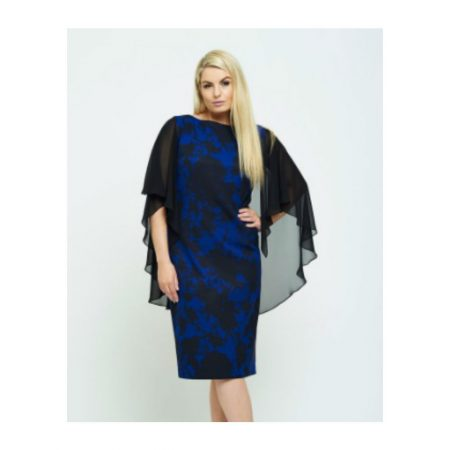Personal Choice Patterned Cape Dress