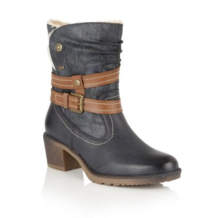 Lotus Relife Mallory Navy Mid Calf Boots