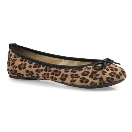 Butterfly Twists Cleo Leopard Print Foldable Flat Shoes