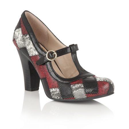 Lotus Phyllis Multi Leather T-Bar Dress Shoes