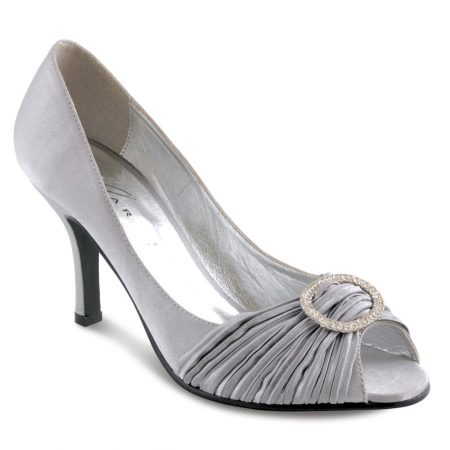 Lunar Sienna Light Grey Satin Dress Shoes