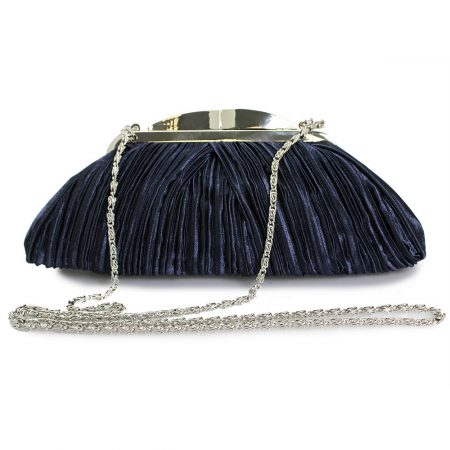 Lunar Sienna Navy Satin Evening Bag