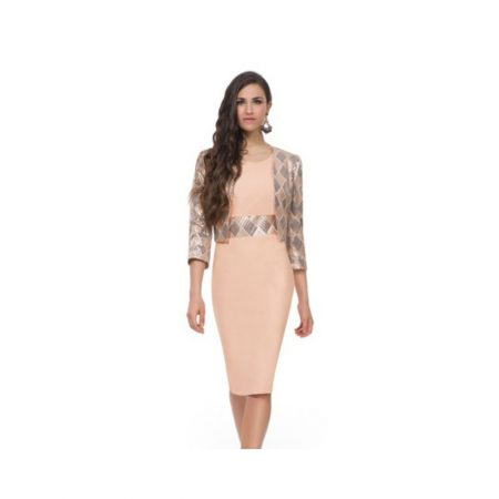 Michaela Louisa Sequin Dress Matching Jacket Set