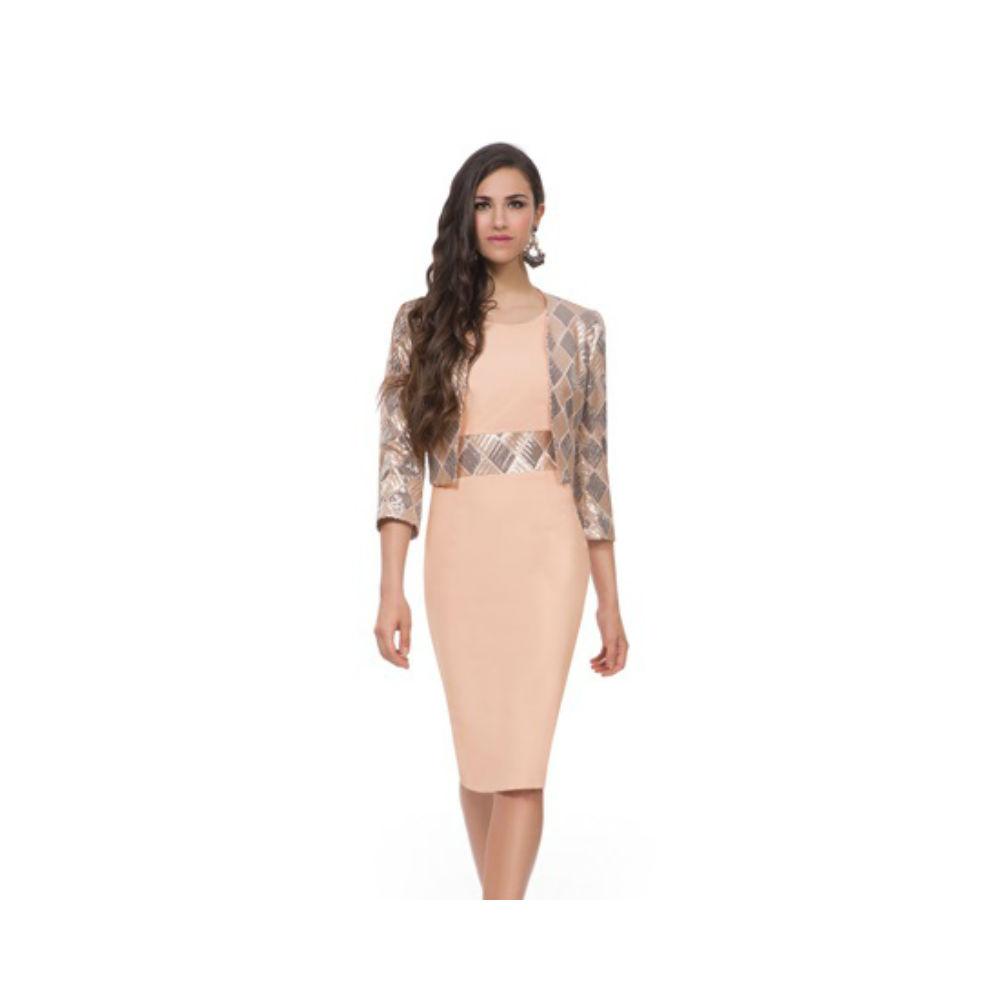 Michaela Louisa Sequin Dress Matching Jacket Set