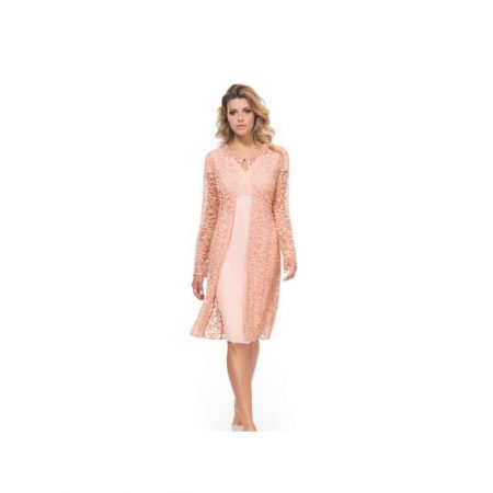 Michaela Louisa Pink Dress Matching Jacket Set