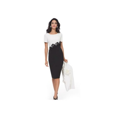 Michaela Louisa Black & White Dress & Jacket Set