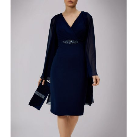 Mascara Navy Dress Chiffon Jacket Set