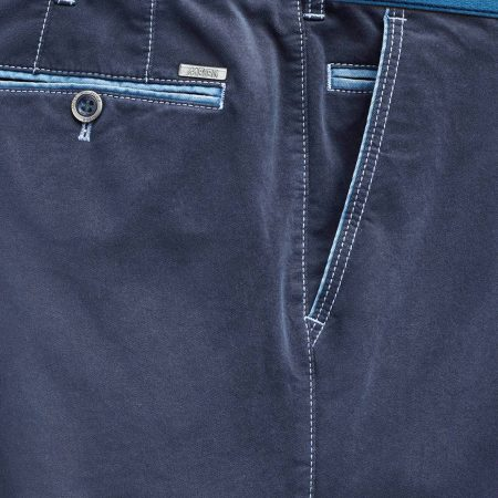 Meyer trousers - New York navy cotton stretch 5001