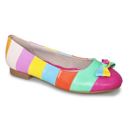Lunar Nadia Multi-Colour Pink Flat Shoes