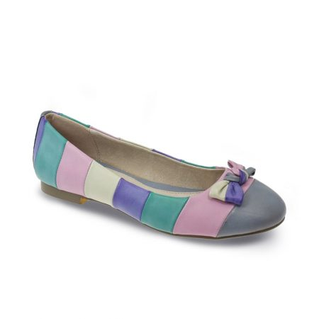 Lunar Nadia Multi-Colour Lilac Flat Shoes