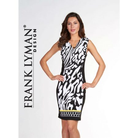 Frank Lyman Black & White Animal Print Dress