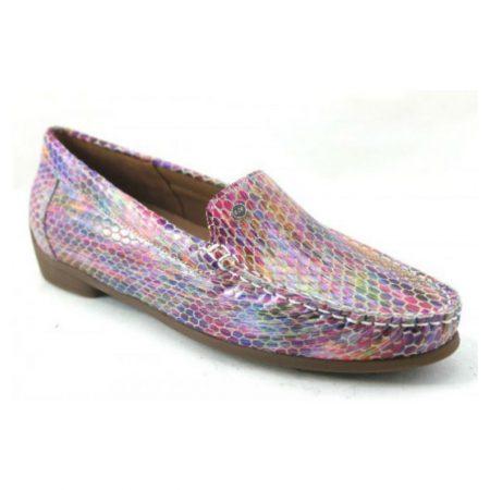 Ara Boston Multi Colour Patent Leather Loafers