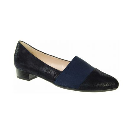 Alpina Elvira Navy Printed Leather Shoes
