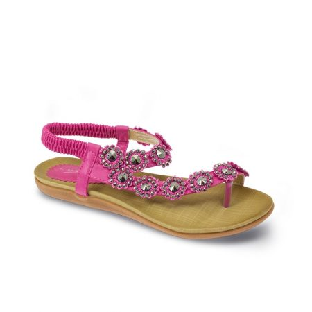 Lunar Charlotte Fuchsia Toe Post Sandals