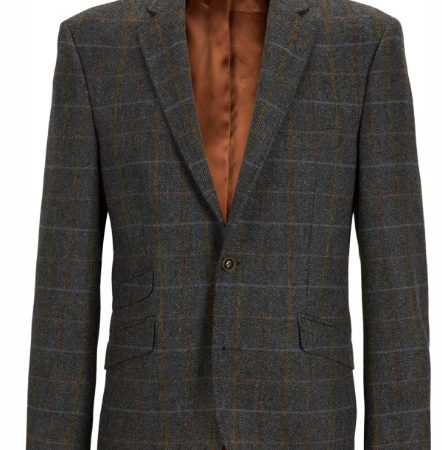 Douglas Grey Multi Wool Check Jacket