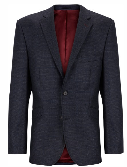 Douglas Navy Check Dress Jacket