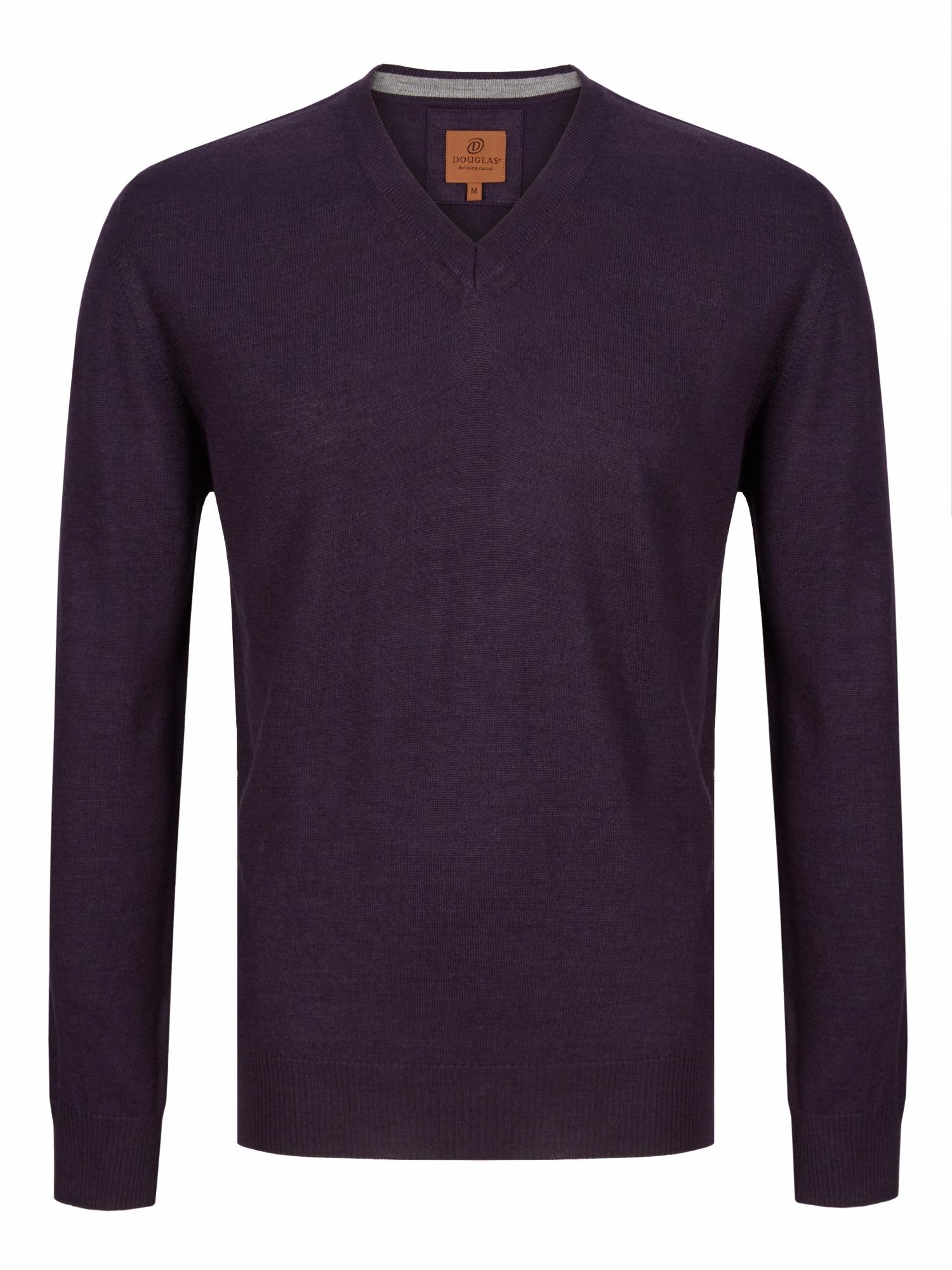 Douglas purple v neck sweater 56199/76 - Brooks Shops