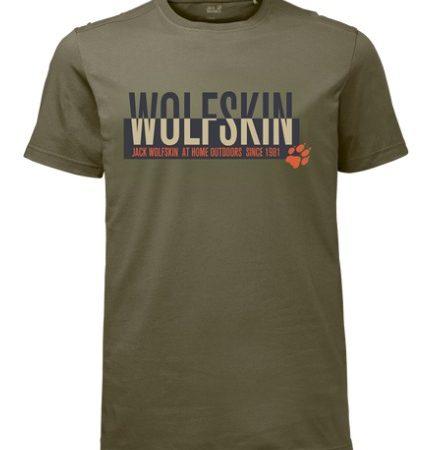 Jack Wolfskin Burnt Olive Slogan Tshirt