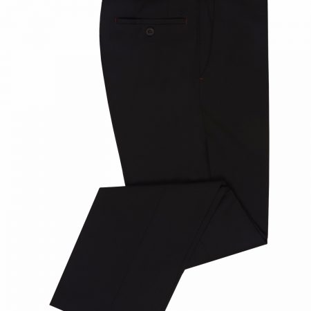 Remus Uomo Black Leroy Formal Trousers 70309.jpg