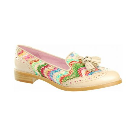 Capollini Belva Multi-Colour Leather Loafers