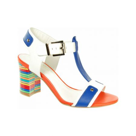 Capollini Cristina Multi-Colour Leather Heeled Sandals