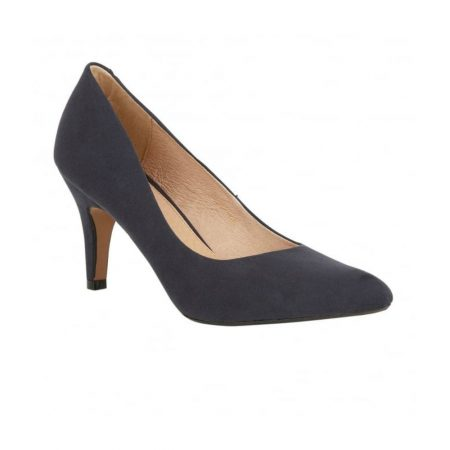 Lotus Dulcie Navy Microfibre Dress Shoes