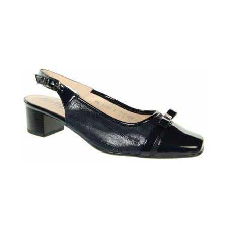 Alpina Marli Navy Leather Sling Back Dress Shoes