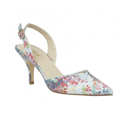Lotus Mirante Blue Floral Print Dress Shoes