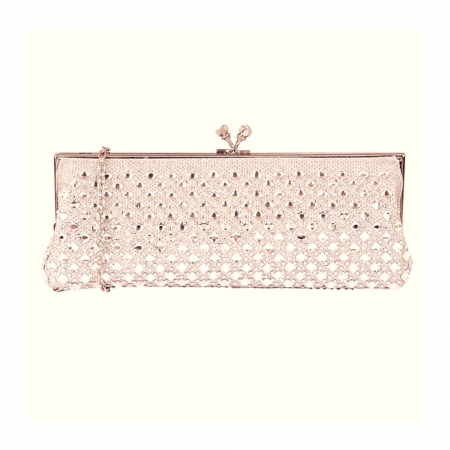Lotus Zilar Rose Gold Embellished Evening Bag