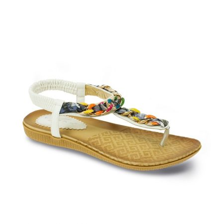 Lunar Majorca White Toe Post Sandals