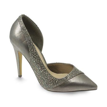 Lunar Carlton Metallic Pewter High Heeled Shoes