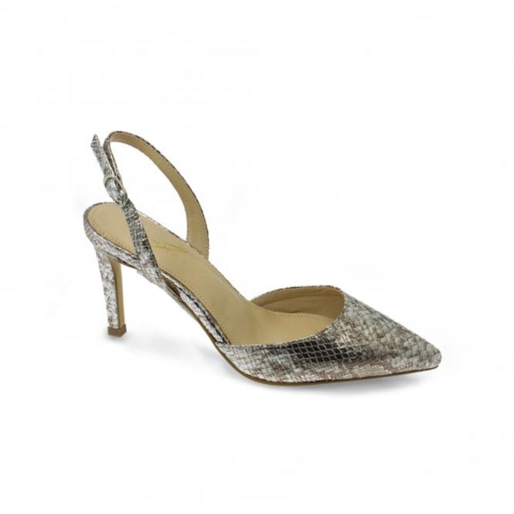 92132ecf1bbd ... lunar clary silver snake print heeled shoes brooks s ...