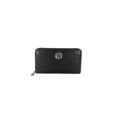 Lisa Kay Brit Black Croc Print Purse
