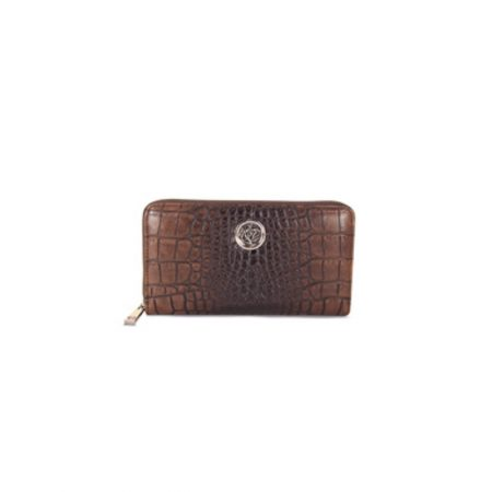 Lisa Kay Brit Brown Croc Print Purse