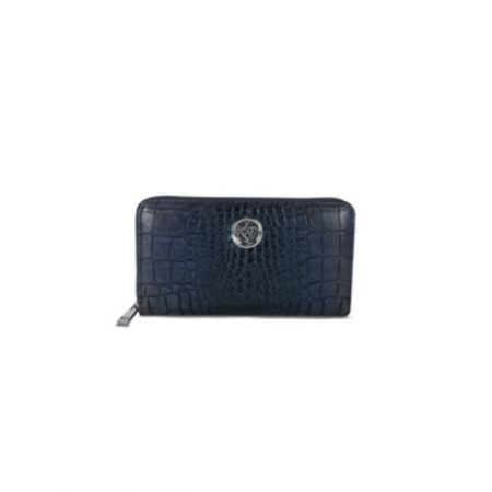 Lisa Kay Brit Navy Croc Print Purse