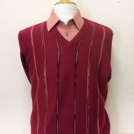 Gabicci Redcurrant V Neck Knitwear Jumper