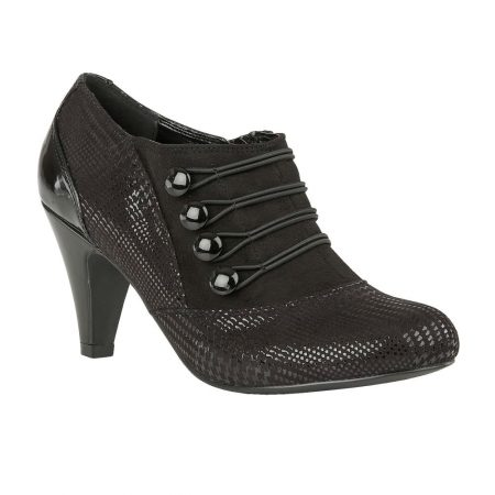 Lotus Dolley Black Heeled Shoes Boots