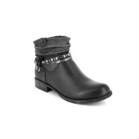 Hengst Dark Grey Flat Ankle Boots