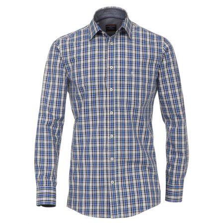 Casa Moda Grey Blue Check Shirt