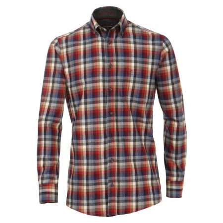 Casa Moda Red check Shirt