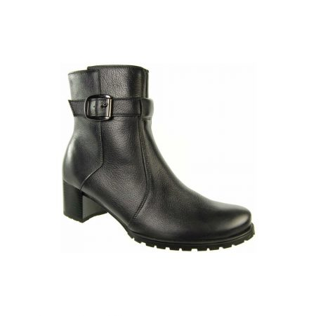 Alpina Anniston Dark Grey Leather Ankle Boots