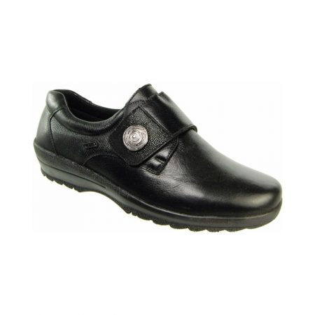 Alpina Atlay Black Leather Trainer Shoes