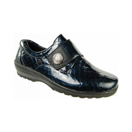 Alpina Atlay Navy Patent Leather Trainer Shoes