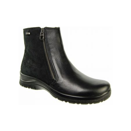 Alpina Augusta Black Leather Waterproof Ankle Boots