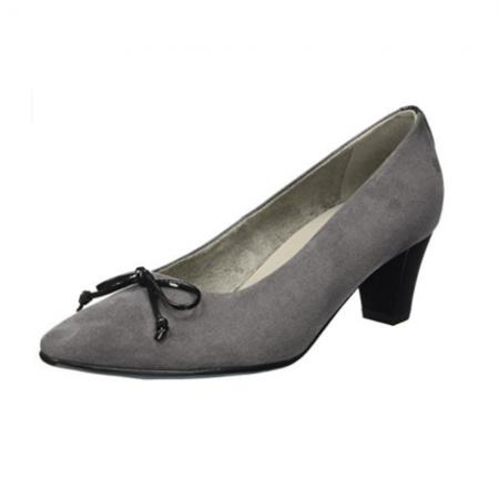 Jenny Ara Brionne Grey Mid Heeled Court Shoes