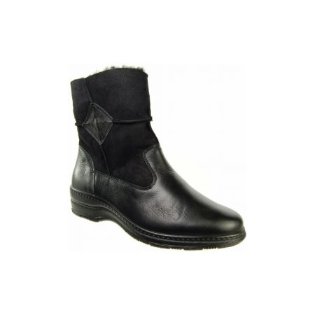 Alpina Enza Black Leather Ankle Boots