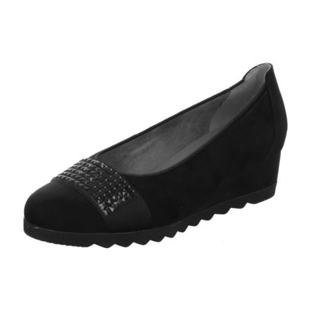 Jenny Ara Livorno Black Wedge Shoes