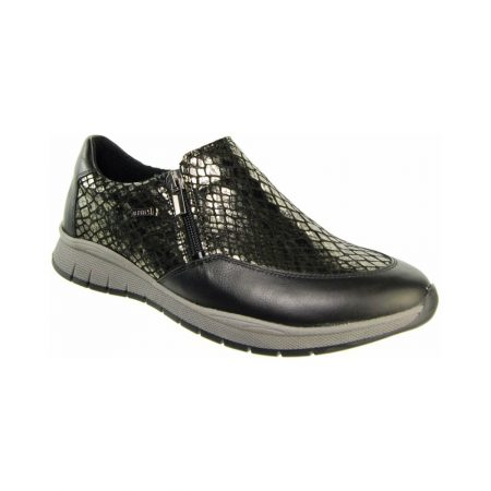 Alpina Manyara Black Leather Trainer Shoes