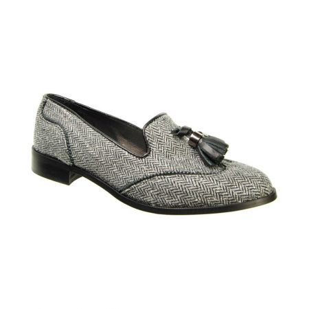 Capollini Marcella Tweed Loafer Shoes