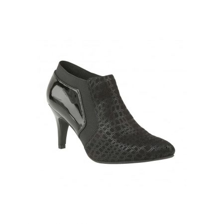 Lotus Pacta Black Heeled Shoe Boots